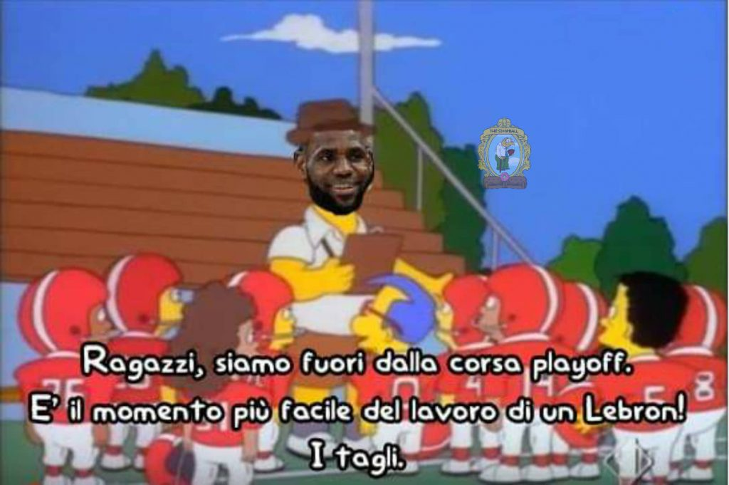 Homer Lebron james meme