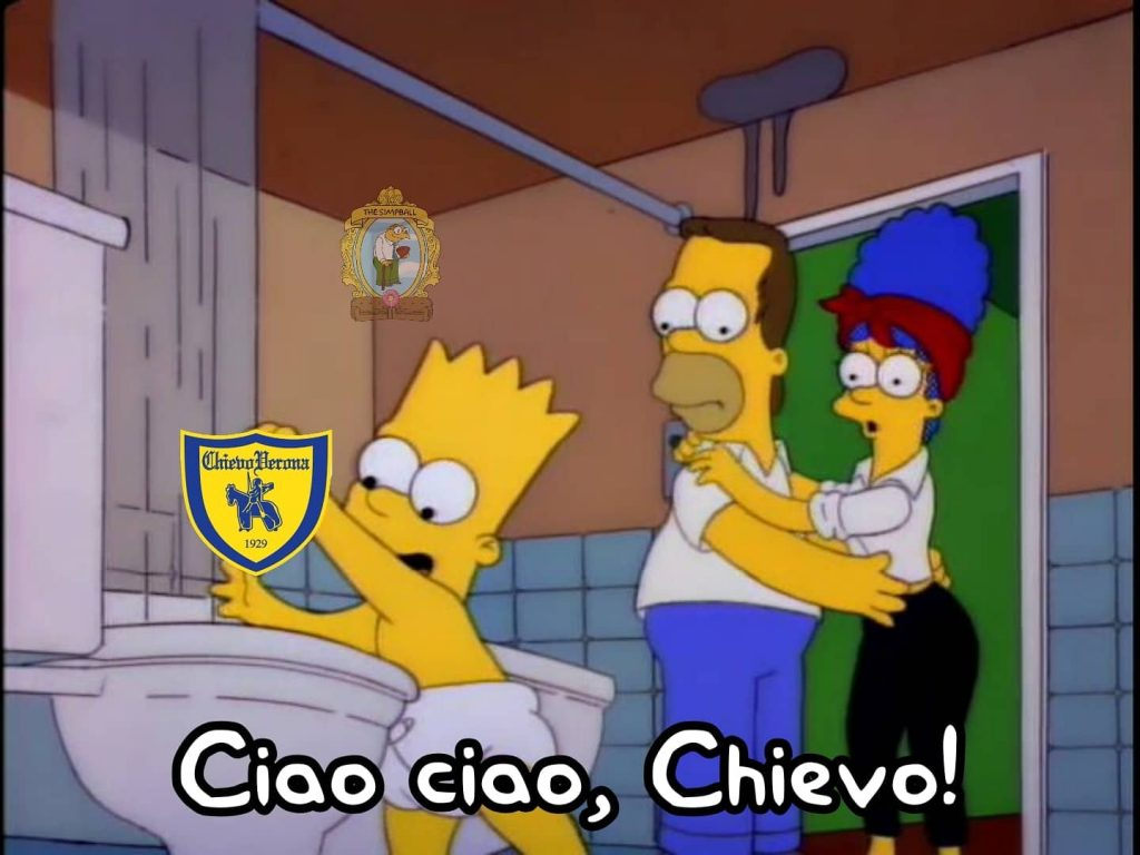 meme chievo Bart serie b